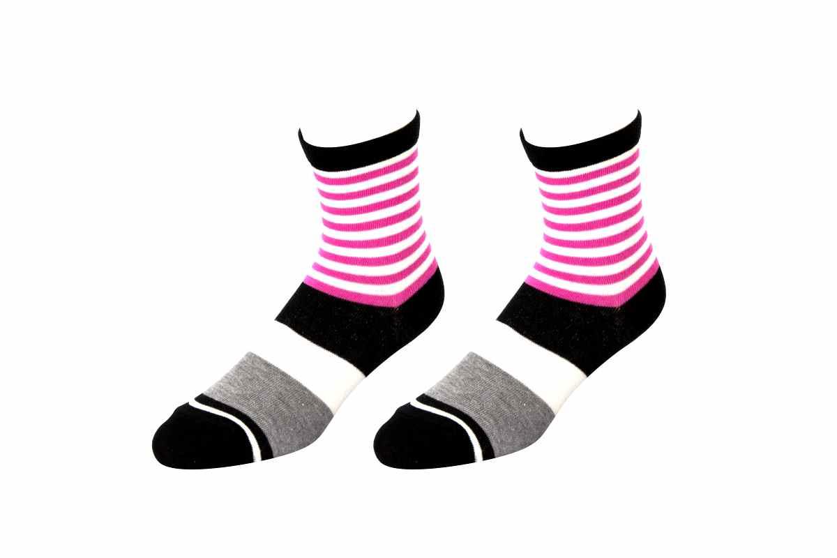 【6612】- 粗細條紋襪(平面)