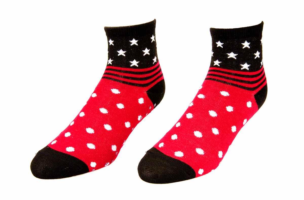 【134】- 圓點條紋襪(止滑款)