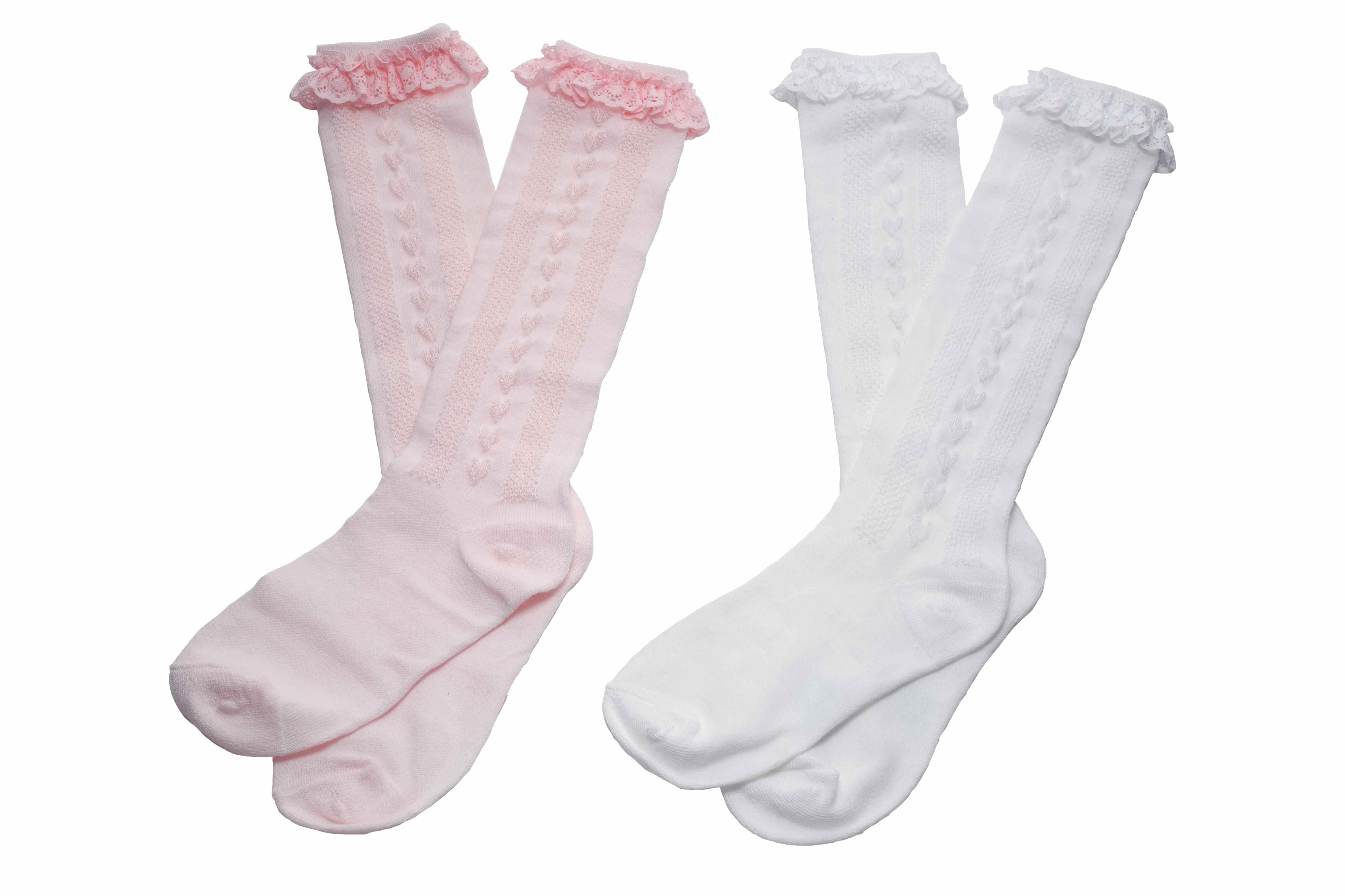 【414】- 立體桃心 ‧ 蕾絲襪